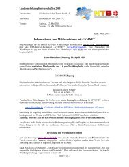Informationen zum Meldeverfahren mit GYMNET - NTB