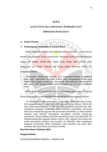 Dewi Nurmalasari Sulaeman,2012 Pengaruh Model… Universitas ...