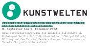 KUNSTWELTEN - Akademie der Künste