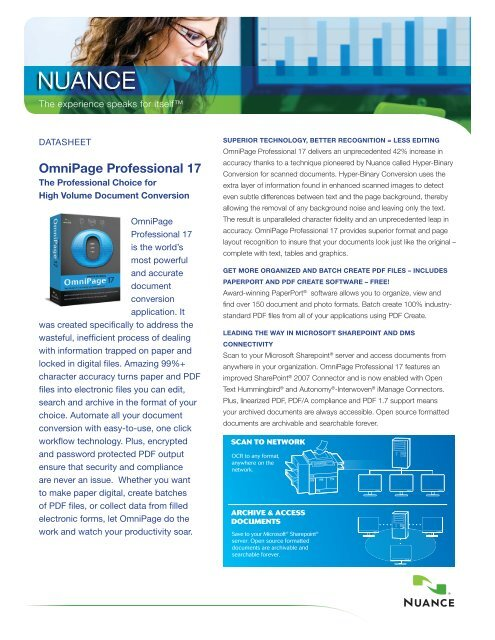 Nuance OmniPage Professional 17 Buy It Now