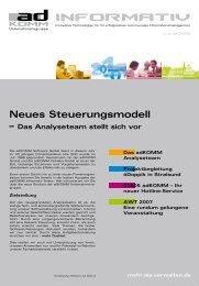 Neues Steuerungsmodell - AdKomm Software GmbH