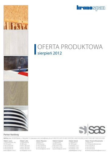 Katalog płyt Kronospan 2012 - oferta produktowa
