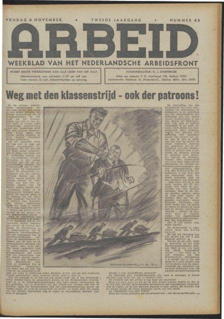 Arbeid (1942) nr. 45 - Vakbeweging in de oorlog