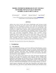 model inferensi berbasis fuzzy neural network menggunakan ...