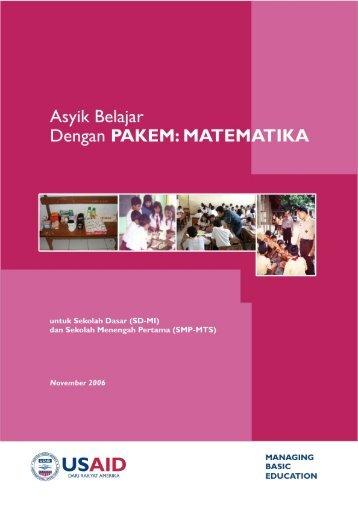 Asyik Belajar dengan PAKEM (Matematika) - Managing Basic ...