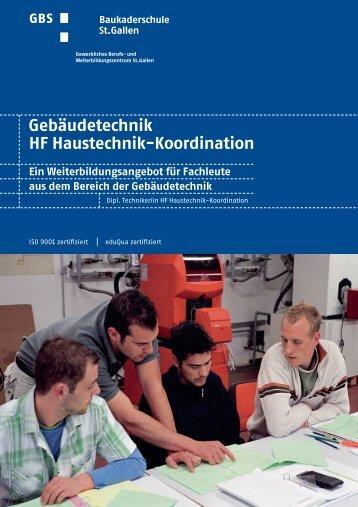 Gebäudetechnik HF Haustechnik Koordination