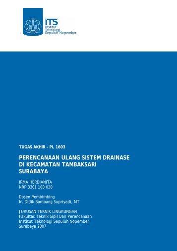 perencanaan ulang sistem drainase di kecamatan tambaksari ...