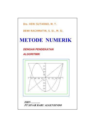 METODE NUMERIK - Direktori File UPI