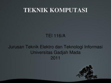TEKNIK KOMPUTASI - IFI TALKS SOMETHING
