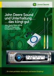 John Deere Sound und Unterhaltung? - Forstmaschinen-Markt