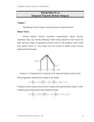 PRAKTIKUM 16 Integrasi Numerik Metode Simpson - Member of ...