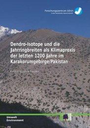 Dendro-Isotope und die Jahrringbreiten als Klimaproxis der letzten ...