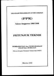 PPK (Program Pengembangan Kecamatan) - Dirjen Bina Marga