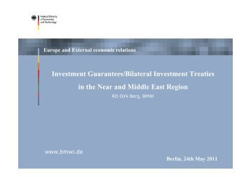 Presentation Dirk Berg - Federal Ministry of Economics ... - NuMOV