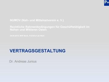 Vertragsgestaltung_Dr. A. Junius - NuMOV