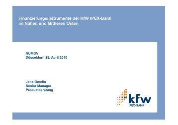 Jens Gmelin - KfW IPEX-Bank - NuMOV