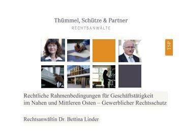 Gewerblicher Rechtsschutz _Dr. B. Linder - NuMOV