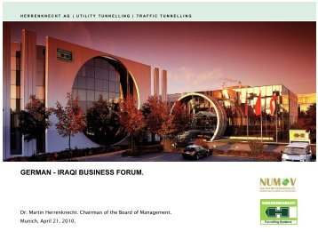 GERMAN - IRAQI BUSINESS FORUM. - NuMOV
