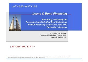 Loans & Bond Financing - NuMOV