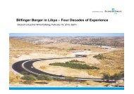 Bilfinger Berger in Libya – Four Decades of Experience - NuMOV