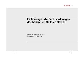 1_Christian Schultze_Einführung in die Rechtsordnungen ... - NuMOV