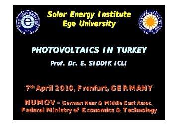 Ege Üniversitesi Solar Energy Institute Ege University ... - NuMOV