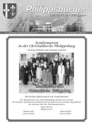 Stadtanzeiger Philippsburg KW19 - Nussbaum Medien