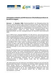 Arbeitgeberverbände und IHK Hannover ... - ADK