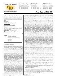 Kundeninformation - nutrition world group