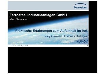 Marc Neumann - Ferrostaal Industrieanlagen GmbH - NuMOV