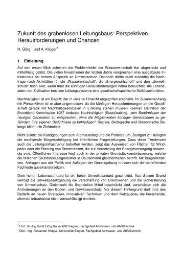 Zukunft des grabenlosen Leitungsbaus ... - Nodig-Bau.de