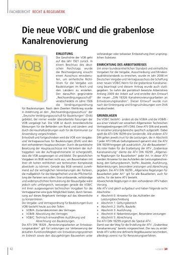 Die neue VOB/C und die grabenlose ... - Nodig-Bau.de