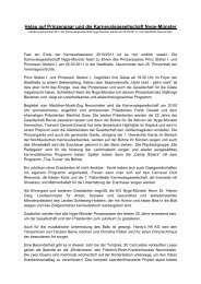 Helau auf Prinzenpaar und die Karnevalsgesellschaft Nyge-Münster