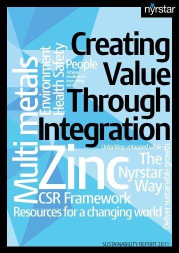 Sustainability Report 2011 - Nyrstar