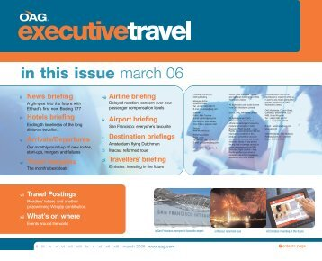 in this issue march 06 - OAG.com