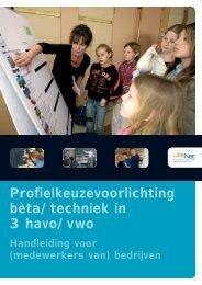 Profielkeuzevoorlichting bèta/techniek in 3 havo/vwo - Jet-Net