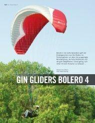 GIN Bolero 4 im Test - OASE Flugschule Peter Geg GmbH
