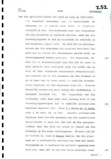 """van die getuierais beskou met word as volg op 182H-183D: """"'n ..."""