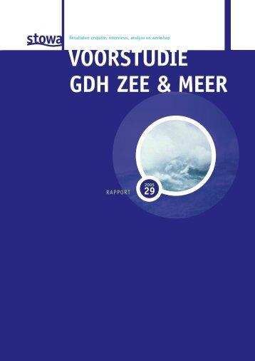 Voorstudie GDH Zee & Meer(resultaten, enquete, interviews - Stowa