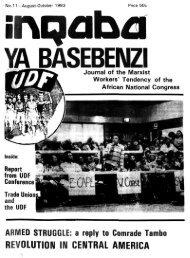 Inqaba ya basebenzi Number 11 August-October 1983 - DISA