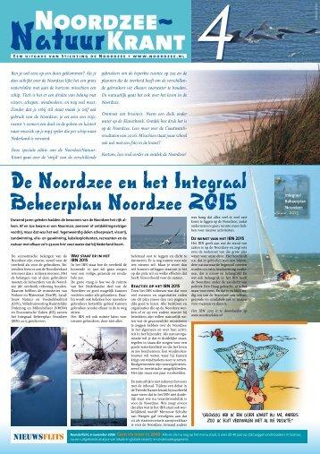 Noordzee Natuur Krant nr. 4 IBN - Stichting De Noordzee