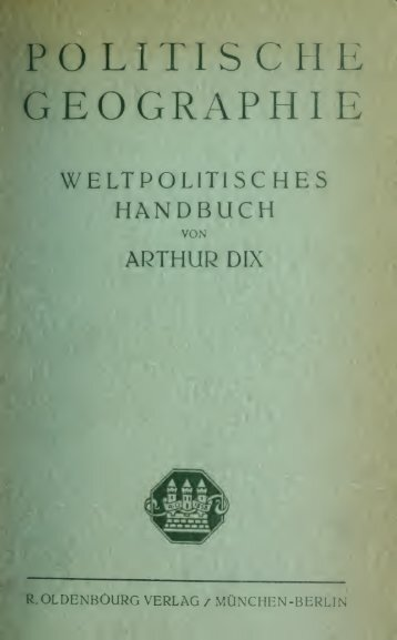 Politische Geographie; weltpolitisches Handbuch