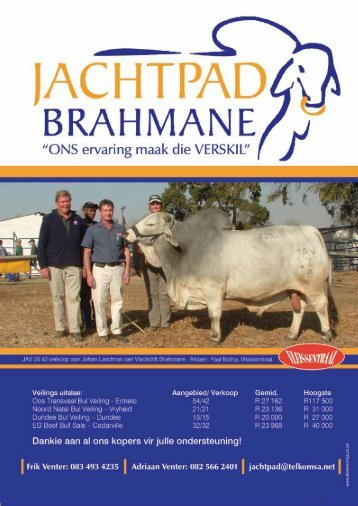 Deel 3 - Brahman Breeders Society of South Africa
