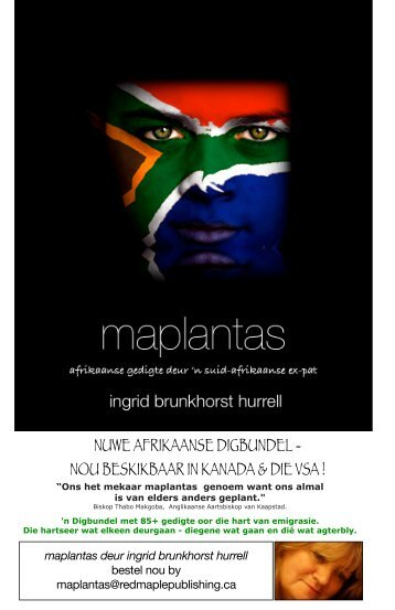 nuwe afrikaanse digbundel - Red Maple Publishing