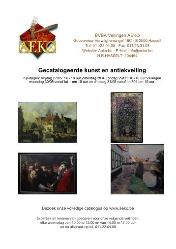 BVBA Veilingen AEKO - Auction In Europe