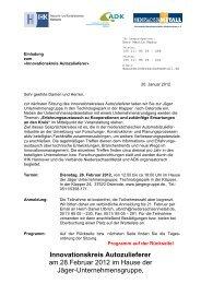 Innovationskreis Autozulieferer am 28.Februar 2012 im ... - ADK