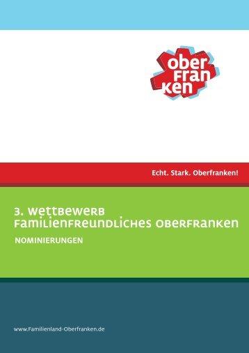 3. Wettbewerb Familienfreundliches Oberfranken - Familienland ...