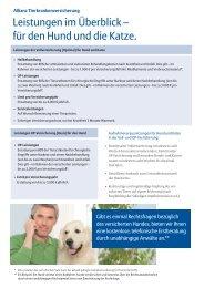 Vollkrankenversicherung mit Optimaldeckung - Nordic Cat Club e.V.