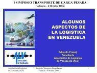 algunos aspectos de la logistica en venezuela - Asociación de ...