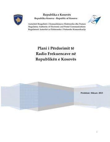 Plani i Përdorimit të Radio Frekuencave në Republikën e Kosovës ...